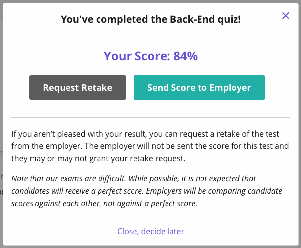 submit your score